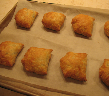 bake samosas until golden brown