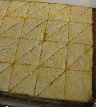 cool and cut lemon bar