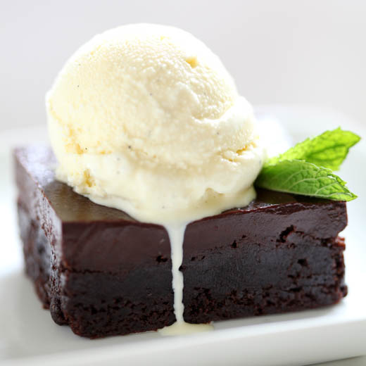 Crazy-Good Chocolate Brownies with Mint Ice Cream! (A Giveaway from ...