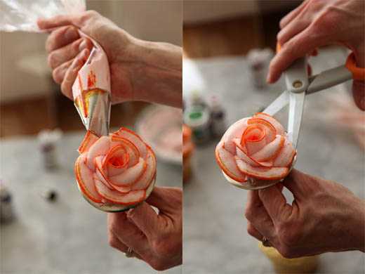 Cake Decorated With Piped Roses : How to Pipe Icing Roses   Zoe Bakes