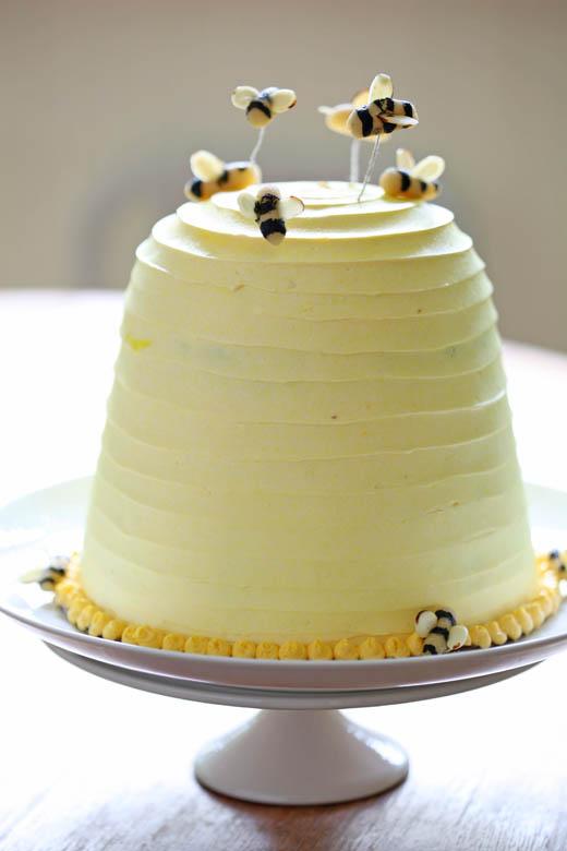 zoebakes.com Bee Hive Cake