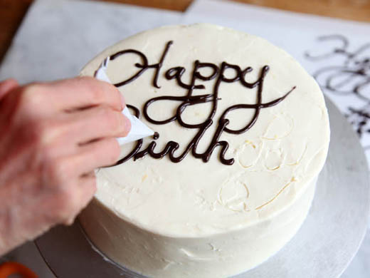 How To Write On A Cake Video On Folding Parchment Pastry