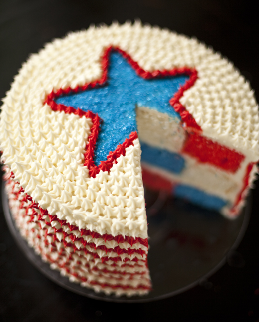 4th of July Star Cake | ZoeBakes