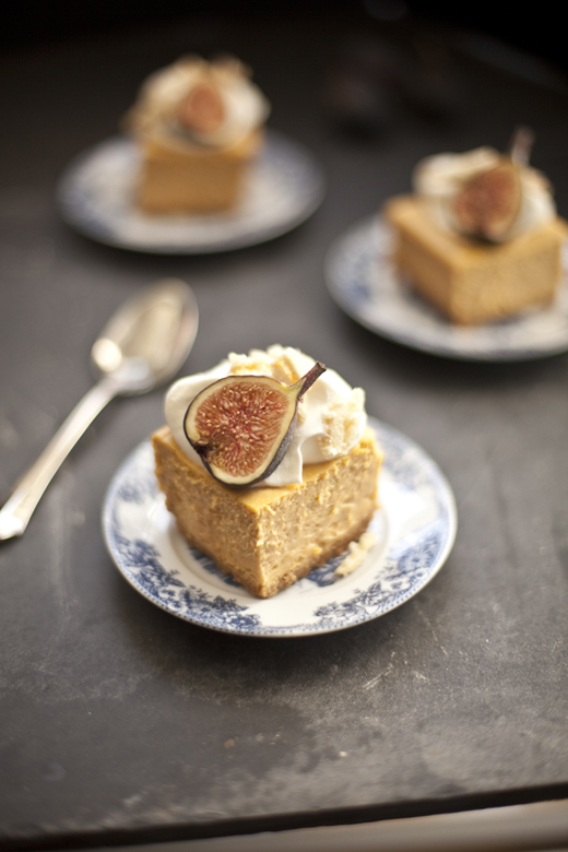 Pumpkin Cheesecake with Almond Crunch and Amaretto Cream – Zoe Bakes