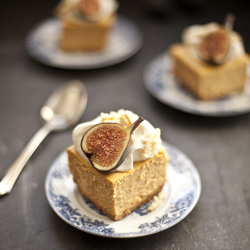 Thumbnail image for Pumpkin Cheesecake with Almond Crunch and Amaretto Cream