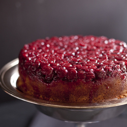 Thumbnail image for Cranberry-Raspberry Upside Down Cake
