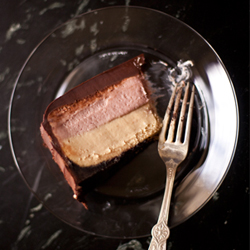 Thumbnail image for PB&J Cheesecake with Poured Ganache (how-to video).