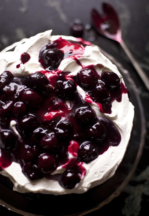 Black Forest Cake Recipe With Fresh Cherries