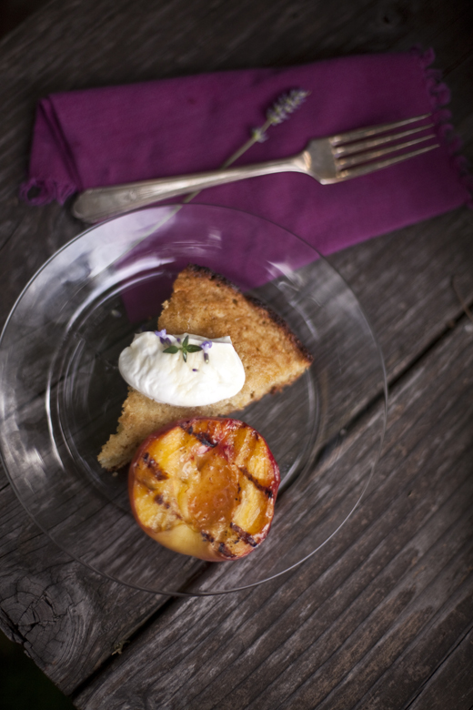 grilled cornbread & peaches zb 13